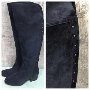 Vince Camuto Briella Navy suede over the knee boot
